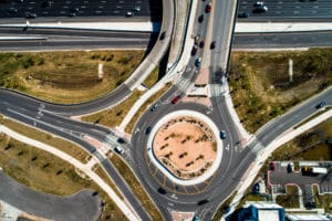 Roundabout Accident in Texas